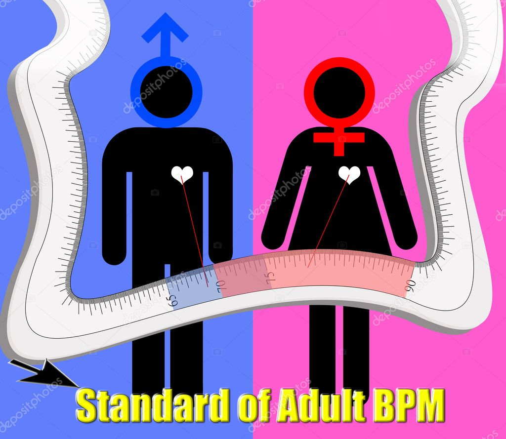 Standard of adult heart beat per minute  — Stock Photo #4747389