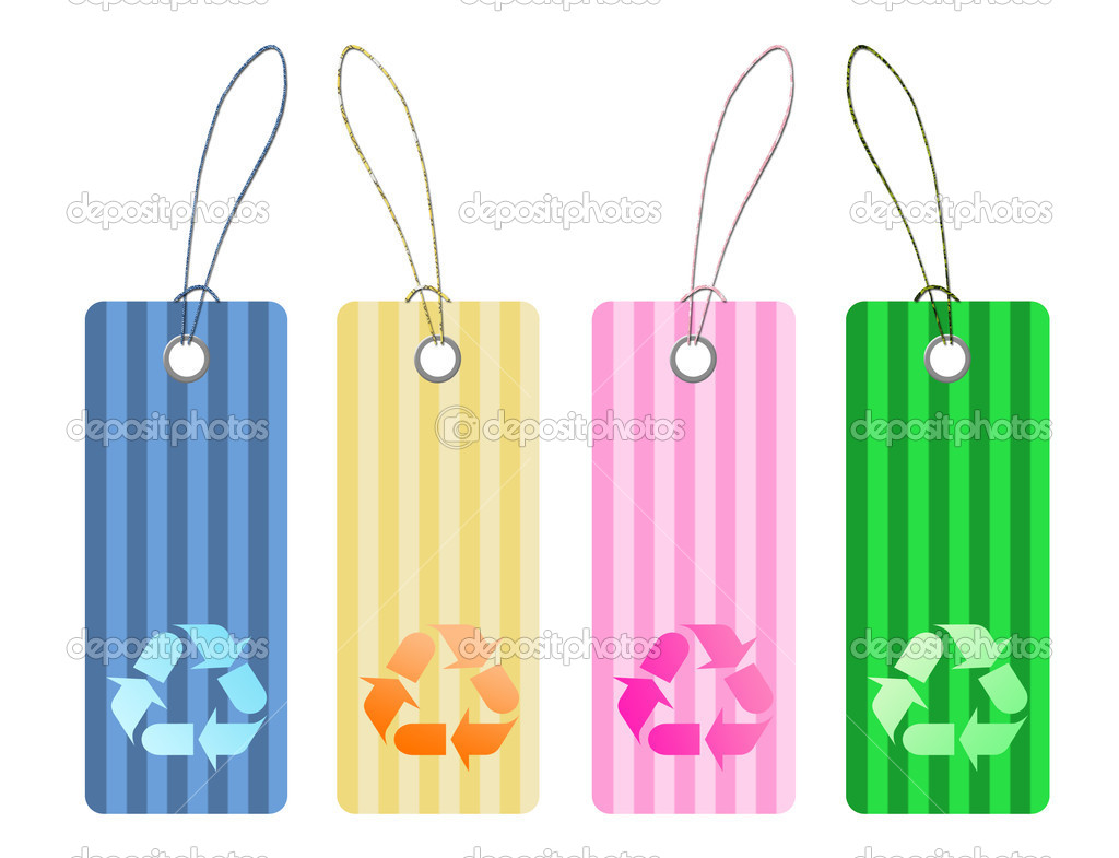 Recycle tags for environmental design  — Stock Photo #4747394