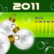 March of 2011 calendar — Stock Photo