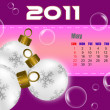 Stock Photo: May of 2011 calendar