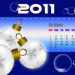October of 2011 calendar — Stock Photo
