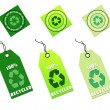 Recycle tags for environmental design — 图库照片