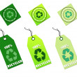 Recycle tags for environmental design — Stock Photo