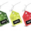 Stock Photo: Retail sale price tags for every shopping season