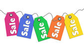 Colorful sale tags — Stock Photo