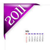July of 2011 calendar — Stock Photo