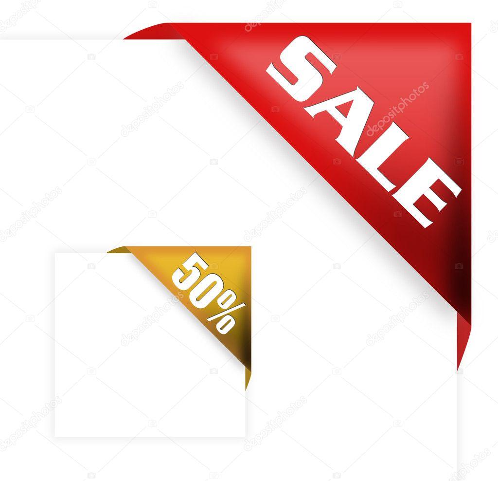 red corner ribbon with sale sign  u2014 stock photo  u00a9 payphoto