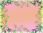 幸運の竹の葉フレーム — ストック写真