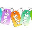 Stock Photo: Sale tags design for website