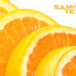 Close-up juicy slice orange — Lizenzfreies Foto