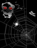 Halloween spiderweb background — Stock Photo