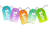 Sale tags design for website — Stock Photo