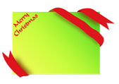 Golden corner ribbon with merry christmas sign — Stock Photo
