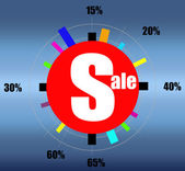 Retail sale for clock design poster — Stock Photo