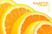 Close-up juicy slice orange — Stock Photo