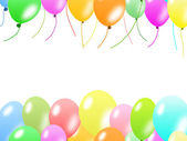 Colorful balloons border — Стоковое фото