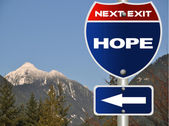 Hope road sign — Stock Photo