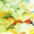 Abstract blur heart shape background — Stock Photo