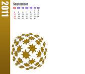 September of 2011 Calendar — Stock Photo