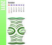 October of 2011 Calendar — Stock Photo