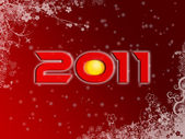 2011 christmas style poster — Stock Photo