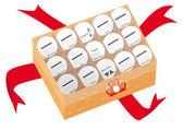 Chinese moon cake design 2011 calendar — Stock Photo
