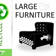 Please recycle large furniture — Stock Photo