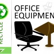 Stock Photo: Please recycle office equipment