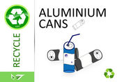 Please recycle aluminium cans — Stock Photo