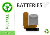Please recycle batteries — Stock Photo