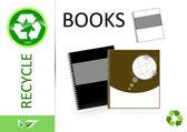 Please recycle books — Stockfoto