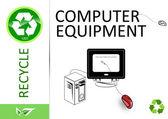 Please recycle computer equipment — Stock Photo