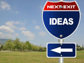 Ideas road sign — Photo