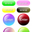 Stock Photo: Colorful button for all website
