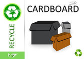 Please recycle cardboard — Stock Photo
