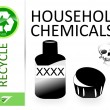 Stock Photo: Please recycle household chemicals