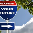 Your future road sign — Stock Photo