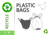 Please recycle plastic bags — Stock Photo