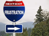 Frustration road sign — Stock Photo