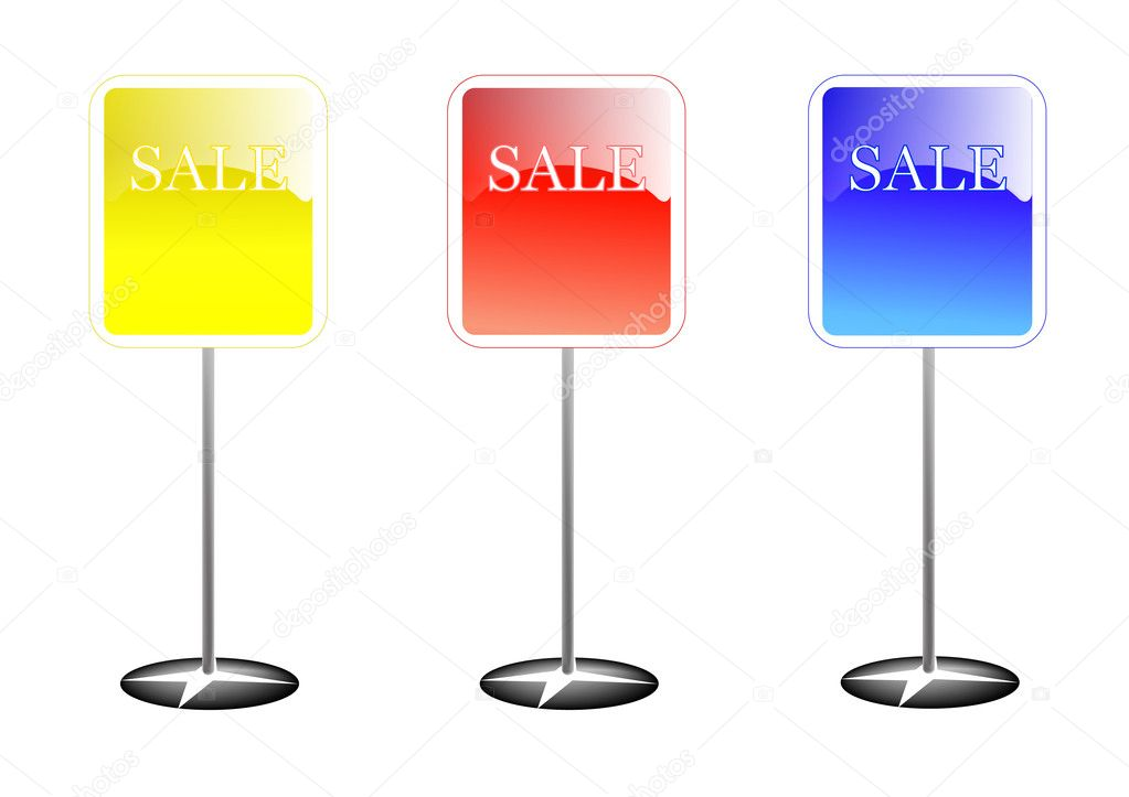 Colorful sale stands  — Stock Photo #4890029