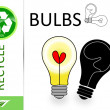Stock Photo: Please recycle bulbs