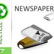 Stock Photo: Please recycle newspapers