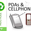 Please recycle pdas and cellphones — Stock Photo #4919100