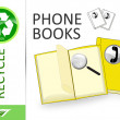 Stock Photo: Please recycle phone books