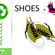 Stock Photo: Please recycle shoes
