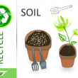 Please recycle soil — Stock Photo #4919112