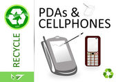 Please recycle pdas and cellphones — Stockfoto