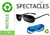 Please recycle spectacles — Stock Photo