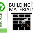 Please recycle building materials — Foto de Stock