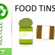 Stock Photo: Please recycle food tins